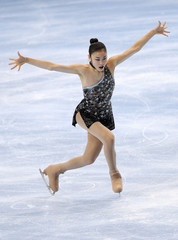 Kim Yu-na of South Korea performs during the Ladies Short Program in the Bompard Trophy event at Bercy in Paris