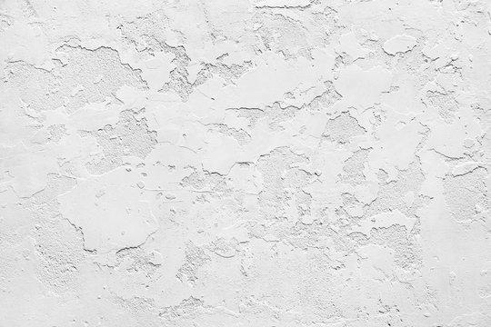 White gypsum rusty wall