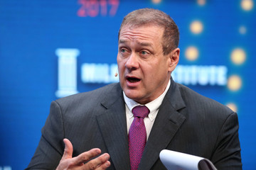 Scott Minerd, Chairman of Investments and Global Chief Investment Officer, Guggenheim Partners, speaks during the Milken Institute Global Conference in Beverly Hills