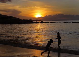 landscape sunset sea