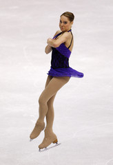 Glebova of Estonia performs during the Ladies Free Skating portion of the 2009 ISU World Figure Skating Championships in Los Angeles