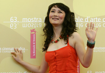 Cast member Zhao poses during photocall to introduce her new film Still Life at Venice Film Festival
