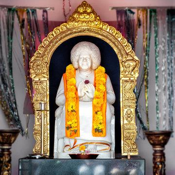 Sathya Sai Baba Temple of Puttaparthi village, India