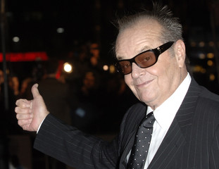 """U.S actor Jack Nicholson poses at the premiere of """"The Bucket List """" in London"""