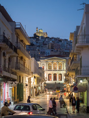 Street in Syros late in the afternoon
