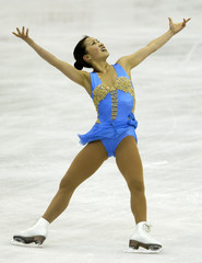 US SKATER MICHELLE KWAN PERFORMS IN THE LADIES FREE SKATE AT WORLDCHAMPIONSHIPS.