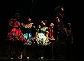 Dancers from Britain's CandoCo Dance Company perform at Al Hussein Cultural Center during the Amman International Dance Festival in Amman