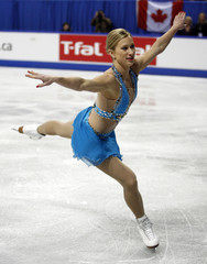 Joannie Rochette of Canada skates during the Ladies Free Program at the Skate Canada International figure skating event in Kitchener