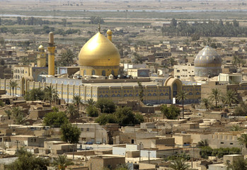 The Askari Shrine, which houses the tombs of Imams Ali Al-Hadi and his son Hassan Al-Askari, is seen..