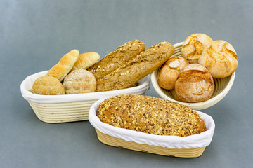 Basket with pastry