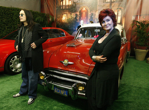 Ozzy and Sharon Osbourne pose in Beverly Hills