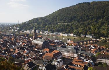 Das Foto zeigt Heidelbergmit Blick vom Königsstuhl