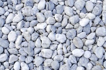 White Stone Pebble Beach Background