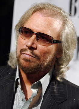 Barry Gibb is interviewed as he arrives at the 55th Annual Broadcast Music Industries (BMI) Pop Awards in Beverly Hills