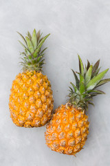 Pineapple on a gray background