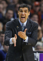 Villanova Wildcats coach Wright directs play during their NCAA men's East Regional basketball game against the Pittsburgh Panthers in Boston