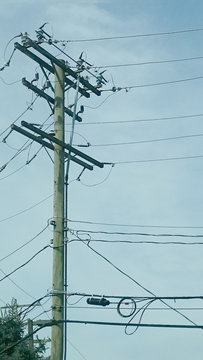 a telepont pole and all the accompaning cables are are taken for granted or a given as they say.