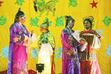 Malaysians of ethnic Chinese descent perform Chinese Opera in Kuala Lumpur.