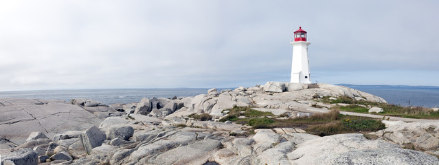 Lighthouse Peggy's Cove Nova Scotia Canada.