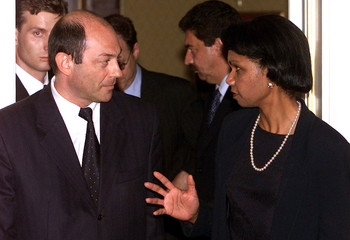 SECRETARY OF RUSSIA'S SECURITY COUNCIL RUSHAILO MEETS U.S. NATIONALSECURITY ADVISER RICE IN MOSCOW.