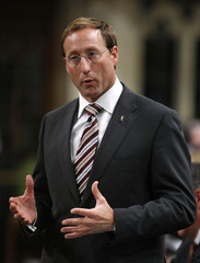Canada's Defence Minister MacKay speaks in the House of Commons on Parliament Hill in Ottawa