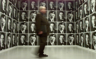 HITLER WALLPAPER AT JEWISH MUSEUM IN NEW YORK.
