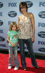"""U.S. actress Lisa Rinna and her daughter Delilah Belle arrive at the finale of Fox's """"American Idol"""".."""