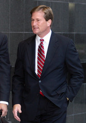 Former Enron Chief Accounting Officer arrives at the Federal courthouse in Houston
