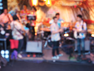 Abstract blurred background of music band