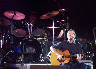 BRITISH MUSICIAN CLAPTON PERFORMS IN MONTEVIDEO.