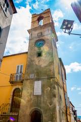 Dans les rues de Manciano en Toscane