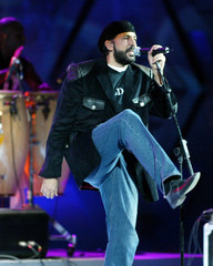 Dominican singer Juan Luis Guerra performs at the 47th International Song Festival in Vina del Mar