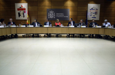 Spanish Health Minister Jimenez holds a meeting with health officials from the different Spanish regional governments