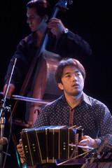JAPANESE TANGO MUSICIAN RYOTA KOMATSU PLAYS IN BUENOS AIRES.
