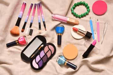 Cosmetics make up women