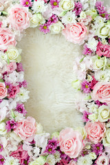 Frame for photo flowers