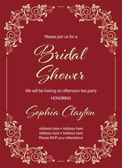 Bridal shower invitation template