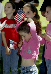 Girl attends Memorial Day ceremony in Burbank