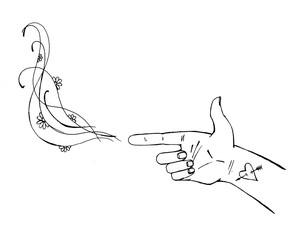 Рука в виде пистолета, руки и жесты