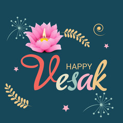 Happy Vesak Day Banner