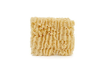 Isolated on white noodles