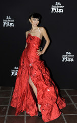 Actress Bai Ling arrives at the 24th annual Santa Barbara International Film Festival in California