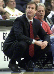 Bucks head coach Stotts looks away after a foul was called on a Bucks player against the Wizards in Washington