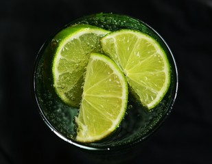 Fresh Lime with water