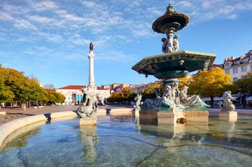 Lisbon - Rossio square at day, Portugal