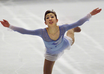 JAPAN'S SUGURI PERFORMS AT WORLD FIGURE SKATING CHAMPIONSHIPS INNAGANO, JAPAN.