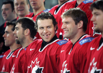 File photo of Team Canada's Heatley at the Ice Hockey World Championship in Innsbruck.