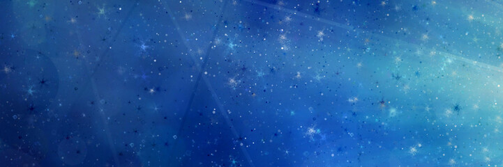 Abstract magic blue background with bokeh lights