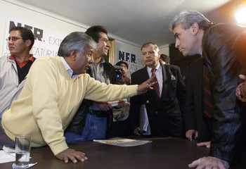 BOLIVIAN OPPOSITION DEPUTIES DECLARE THEMSELVES ON STRIKE IN THECONGRESS BUILDING.
