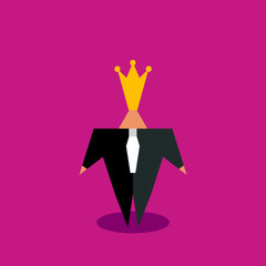 Businessman in crown